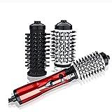 AWSXDC Cepillo de secador de Pelo eléctrico Plancha for Plancha Curler Volumen de Hierro Rotar un Paso Sopladores Reemplazable Air Peine de Aire Caliente 360 Rotación