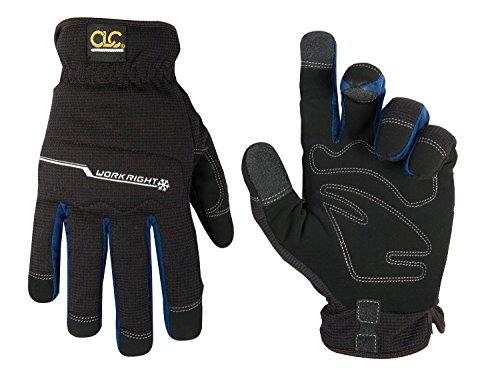 CLC Custom Leathercraft L123L Workright Cold Weather Insulation Flex Grip Work Gloves, Shrink Resistant, Improved Dexterity, Tough, Stretchable, Excellent Grip , Black , Large