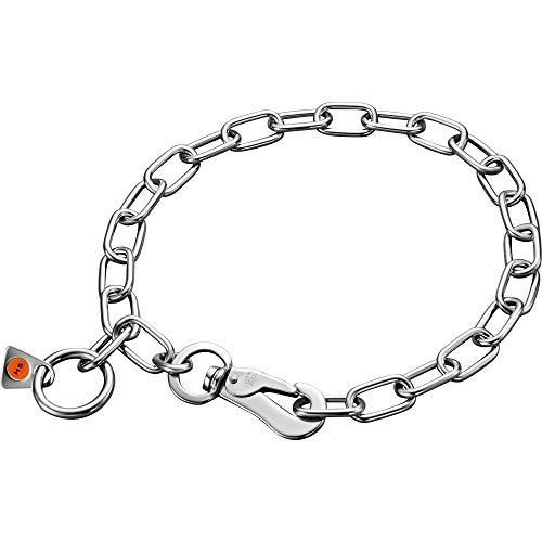 Sprenger Hundehalskette mit Sprenger Haken aus Edelstahl 3mm I Größe individuell einstellbar I Halskette, 50 cm