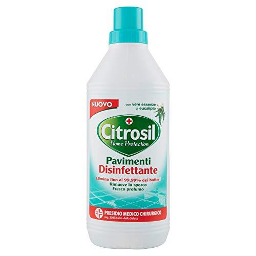 Citrosil Home Protection - Detergente Liquido Pulisci Pavimenti Disinfettante con Vere Essenze di Eucalipto, 900 ml