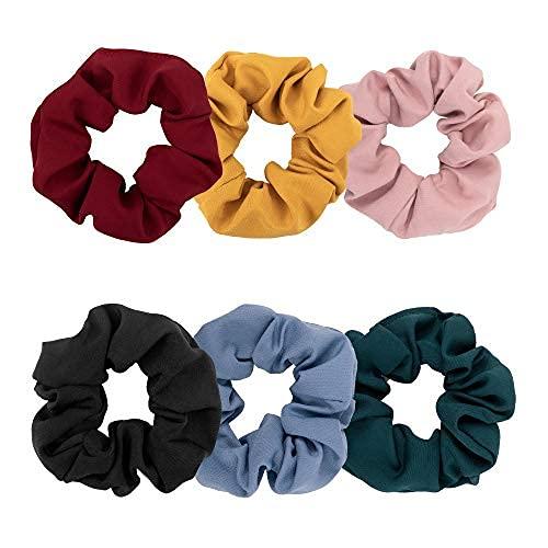 Coleteros de pelo suave de color sólido elásticos para el cabello para mujeres y niñas, accesorios para el cabello clásicos..