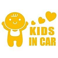 imoninn KIDS in car ステッカー 【シンプル版】 No.10 赤ちゃん (黄色)