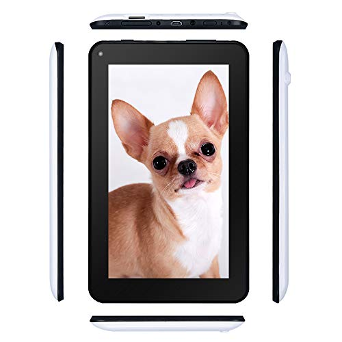 Haehne 7 Pollici Tablet PC - Google Android 6.0 Quad Core, 1GB RAM 16GB ROM, Doppia Fotocamera 2.0MP+0.3MP, 1024 x 600 Schermo, 2800mAh, WiFi, Bluetooth