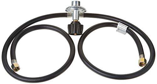"""GasOne Y Splitter Two Hose 3 FT Low Pressure Propane Regulator Connection Kit for Most LP/LPG Gas Grill, Heater and Fire Pit Table, Fit Type (QCC-1) 1, 3/8"""" Flare Swivel Fitting Connectors Dining Features Grill Hoses Kitchen"""