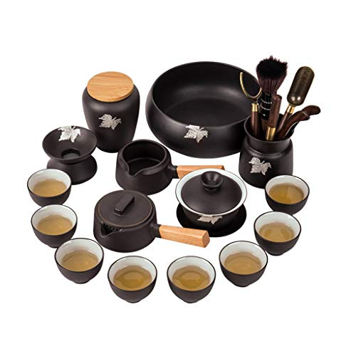 YWSZJ Crockery Cerámica Tetera Teteras Tazas de té Porcelana Juego de té Kung Fu Webware para la Ceremonia de té