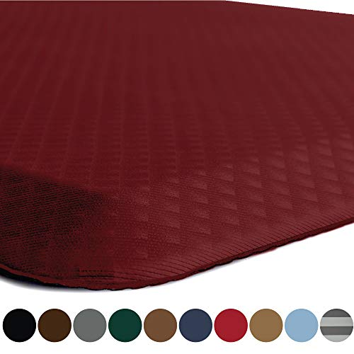 Kangaroo Original Standing Mat Kitchen Rug, Anti Fatigue Comfort Flooring, Phthalate Free, Commercial Grade Pads, Waterproof, Ergonomic Floor Pad for Office Stand Up Desk, 70x24, Red