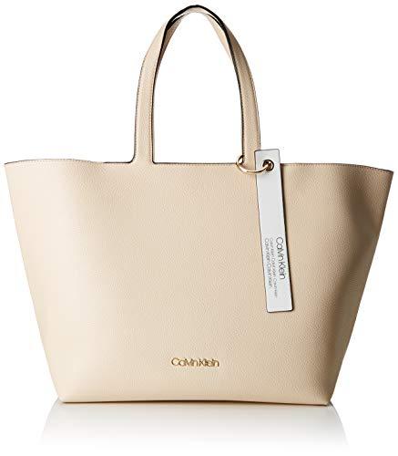 Calvin Klein - Neat Ew Shopper, Bolsos totes Mujer, Gris (Light Sand), 15.5x31x43 cm (B x H T)