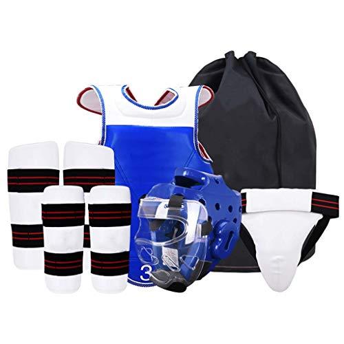 JXS-Outdoor Taekwondo Engranaje Sparring Set - Kit 6PCS con la máscara - EVA Gruesa Capa de protección Integral,Men's,180cm