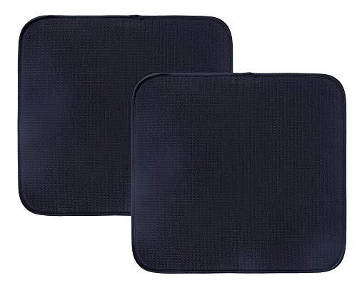 Mikrofiber disktorkmattor superabsorberande torkmatta för disk superabsorberande 40 cm x 46 cm 2-pack svart