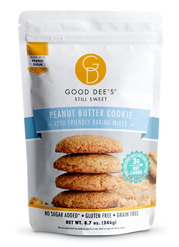 Good Dees Low Carb Baking Mix, Peanut Butter Cookie Mix, Keto Baking Mix, Dairy-Free, Gluten-Free, Soy-Free, IMO-Free, Diabetic, Atkins & WW Friendly - (3g Net Carbs, 12 Servings)