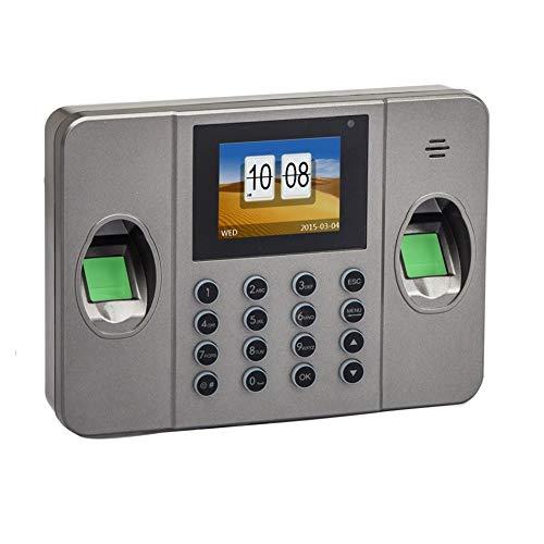 Zeitbetreuungsmaschine Büroelektronik Dual Fingerabdruck-Sensor RFID biometrischer Fingerabdruck-Zeiterfassungsterminal mit optionaler ID/IC-Karte und Bell-Funktion (Color : Standard Device)