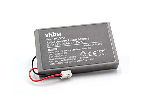 vhbw Akku passend für Sony Playstation 4 PS4 Wireless Controller Dualshock 4 (CUH-ZCT1) ersetzt Lip1522 - (Li-Ion, 1300mAh, 3.7V)
