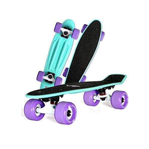 WENYAO Skateboards Skateboard Adult Maple Wood Fish Board Kinder Roller Travel Brush Street Anfänger Jungen und Mädchen Geschenke