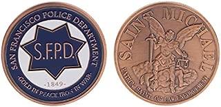 Mccng - London Magnet - Commemorative Coin San Francisco Police Cop Collection Souvenir Coins Art Gifts - Coin Underwear American Toy Saint Police Handcuff San Fire Coin Police 49er Police
