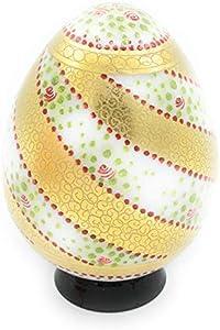 Huevo de colección Murrina Veneciana de oro grafito decorado con esmaltes firmado y certificado como antigua elaboración Muranese Cristal de Murano Made in Italy