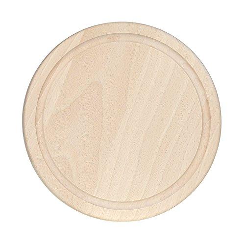 Bütic Beuken Schinepbord - rond met sapgoot - Houten bord snijplank FSC 25 cm Durchmesser