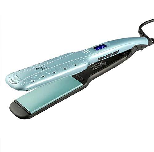 Plancha de pelo, Calienta la plancha de cristal líquido rápido Apagado automático Temperatura ajustable Enderezamiento de la plancha Hierro iónico eléctrico