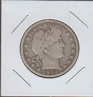 1914 S Barber or Liberty Head (1892-1915) Half Dollar Fine +