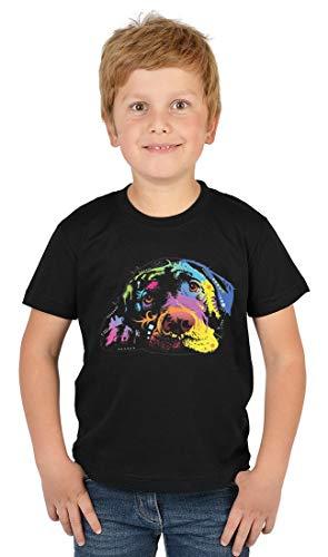 ArtBrands Kinder T-Shirt Jungen - Neon Labrador, Kinder Shirt:S