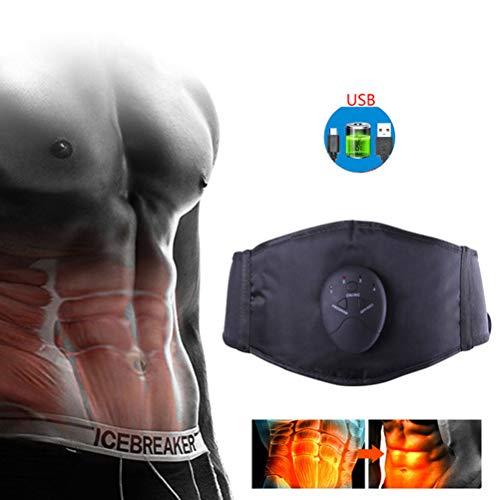 Cinturón De Músculos Abdominales EMS Entrenador Abdominal para Perder Peso, Masajeador Vibratorio De Cinturón Adelgazante Eléctrico 6 Modos, Cinturón Abdominal Moldeador De Cuerpo (B.)