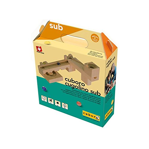 Cuboro Cugolino Sub Baukasten–Spiele BAU-Holz, 4Jahr (S), 11Stück (S), Kinder/Mädchen, Glas, Holz