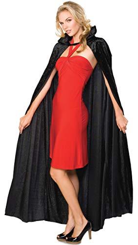 Rubie's Offizielles Halloween-Kostüm für Erwachsene, Knautschsamt, lang, Schwarz, Einheitsgröße