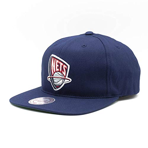 Mitchell & Ness New Jersey Nets Deadstock Snapback NBA Cap Navy, One Size