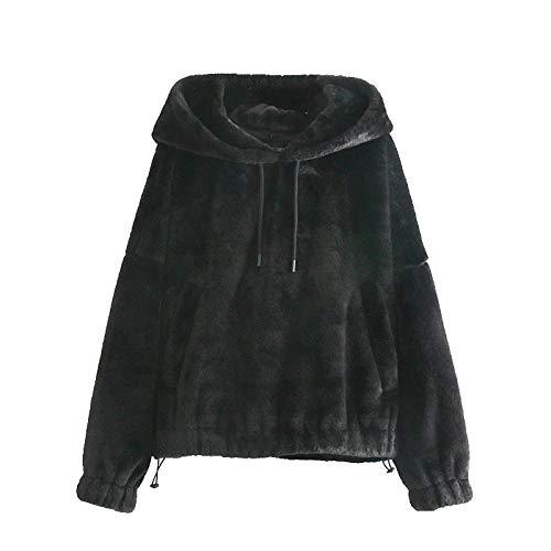 Moda Sudaderas Jersey Sweater Sudaderas con Capucha Sueltas A La Moda para Mujer, Sudaderas con Bolsillos De Manga Larga Vintage, Jerseys Femeninos, Tops Elegantes M 1