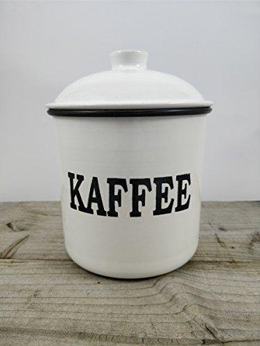 Kaffeedose aus Metall - Vorratsdose Nostalgie - Landhaus-Stil - Emaille