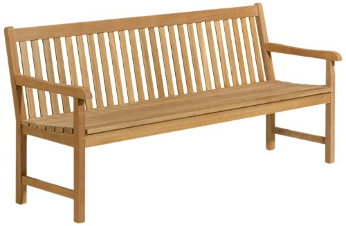 Oxford Garden - Classic Collection 6-Foot Shorea Bench | 100% Tropical Shorea Hardwood Outdoor Furniture