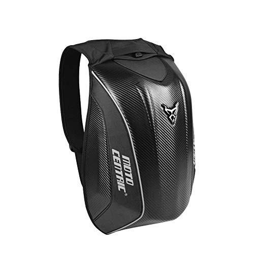 Zaino per Moto Zaino Rigido Impermeabile - Zaino per Moto in Fibra di Carbonio per Borsa da Campeggio