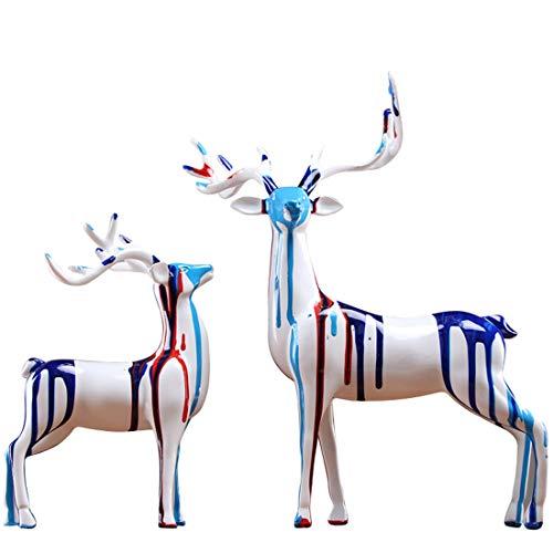No-branded HMSCC Europäische Sika Deer Modell Room Home Wein-Schrank TV Schrank Dekoration Dekoration Einweihungs New Home Kunst