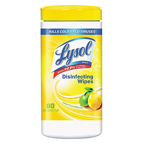 Lysol Brand Lemon and Lime Blossom Sanitizing Wet Wipes, 80/Canister