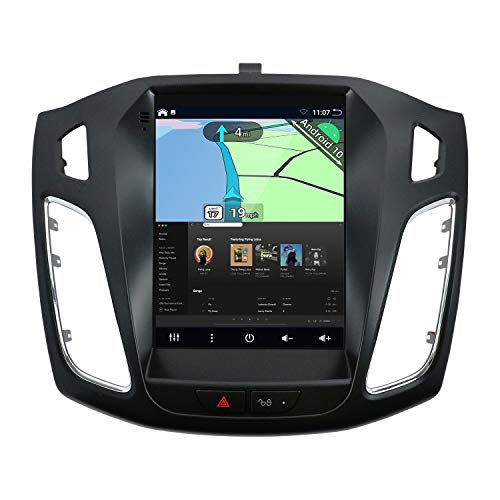 YUNTX Android 10 Autoradio Passt für Ford Focus (2010-2014) - [2G+32G] - KOSTENLOSE Rückenkamera & Canbus &Map - GPS 2 Din -Unterstützt DAB/Lenkradsteuerung/WiFi/Bluetooth 5.0 / Carplay/IPS