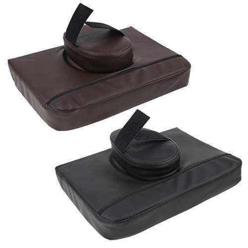Générique 2pièces Coussins de Tête Accessoire pour Table de Massage - Kit de Massage Têtière Housse en Cuir PU