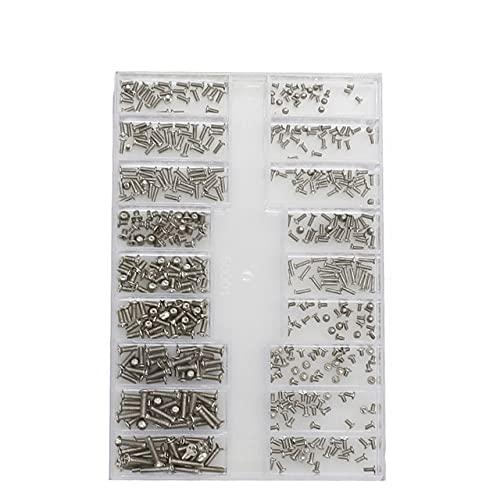 500 Uds 18 tipos Mini tornillo Kit de bricolaje Ordenador portátil Ensamblar reparación Tornillo Sujetador set-I