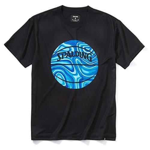 SPALDING(スポルディング) バスケットボール Tシャツ ネオンマーブルボール SMT201070 ブラック Mサイズ バスケ バスケット