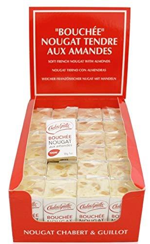 Chabert Nougat de Montelimar Tendre 24 x 30g Packung (weißer Nougat mit Mandeln)