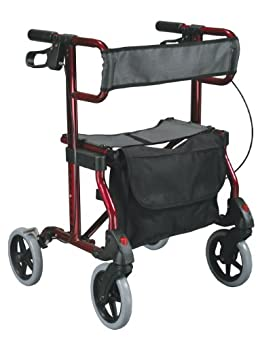 Tool free removable front and rear wheels Soft, comfortable grips Comes with removable carry pouch Handles are height adjustable Comfortable mesh seat
