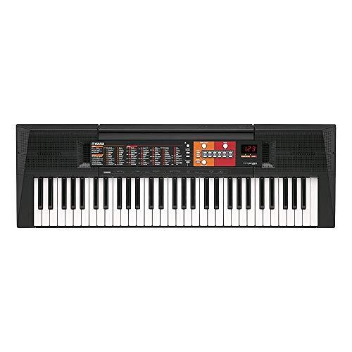 YAMAHA Digital Keyboard PSR-F51, Tastiera Digitale Ottima per Principianti, Design Compatto Portatile, con 61 Tasti, Display a LED e Funzioni di Apprendimento, Nero