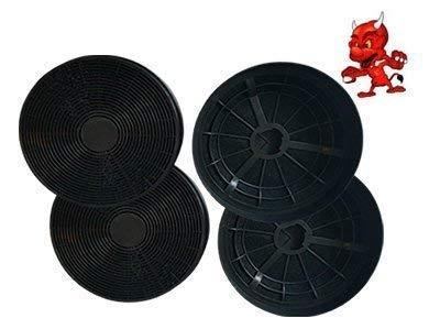 1 MEGASET 4 Aktivkohlefilter Fettfilter Kohlefilter Filter ST1 für Dunstabzugshaube Abzugshaube Baumatic F70.2SS , F90.2SS , F100.2SS