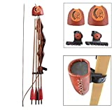 XIXILI Archery Arrow Quiver Longbow Leather Slide-On Quiver Holder 4/6-Arrows,Quick Disconnect Release Lock Mounting Archery Recurve Bow Arrow Case for Outdoor Hunting Shooting (S)