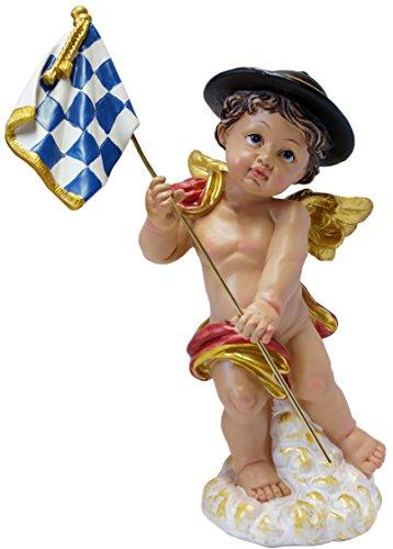 Kaltner Präsente cadeau-idee - decoratief figuur Beierse engel met vlag Beieren ruit blauw wit