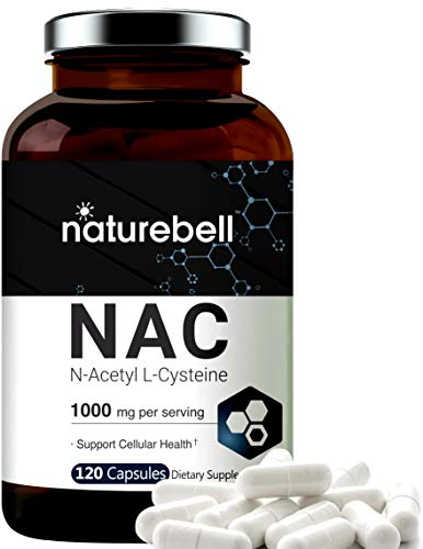 NAC Supplements and NAC Sustain (N-Acetyl L-Cysteine), 1000mg Per Serving, 120 Capsules, Strongly Support Liver Function, Lung Health and Detox, Non-GMO