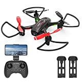 NEHEME NH530 Drones with Camera for Adults Kids, Mini Drone with 720P HD Camera, RC Quadcopter for Beginners with Gravity Sensor, Headless Mode, One Key Return/Take Off/Landing, Drone with 2 Batteries