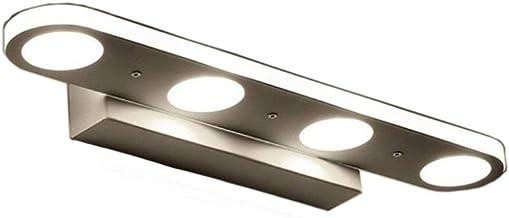 Luz de espejo de maquillaje ZHMA 12W, Lámpara LED de espejo de baño acrílica, Iluminación de maquillaje de espejo frontal, Lámpara de pared, Lámpara de baño, Blanco frío