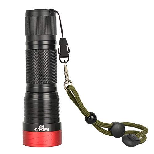 Buscador de peces M3 3000 Linterna Linterna 5 Modos 26650/26350/18650 Lámpara de trabajo de batería Pesca del transductor LCD Monitor (Color : Black)