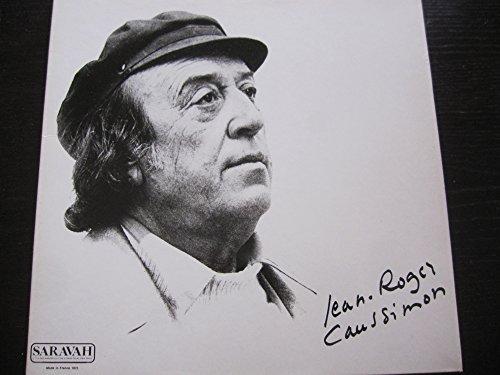Jean Roger Caussimon Saravah 1975 vinyl 33 tours