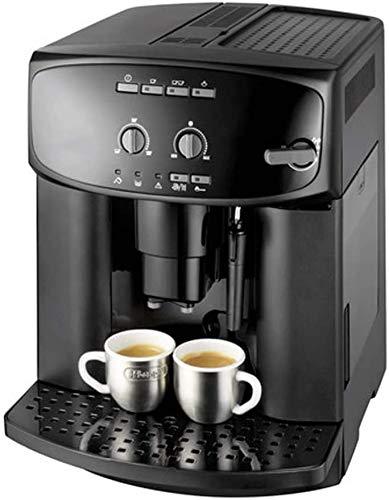 kaige Kaffeevollautomat, Handels- und Gewerbe Italienischer Dampf Milch Cappuccino, frisch gemahlener Kaffee, Milchschaum Kaffeemaschine, Timer-Kaffee-Maschine, Schwarz WKY