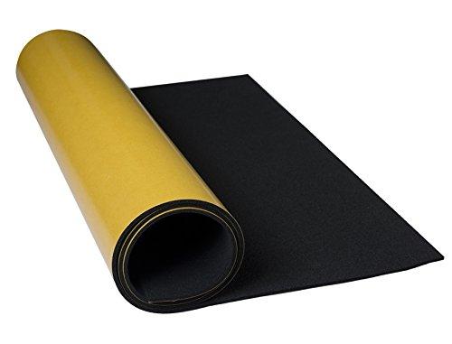 EPDM Zellkautschuk 3mm Stärke 0,5mx1m einseitig selbstklebend schwarz